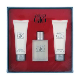 Acqua Di Gio Uomo Giorgio Armani Gift Set Profumo 100 Ml Edt Spray After Shave Balm 75 Ml Shower Gel 75 Ml