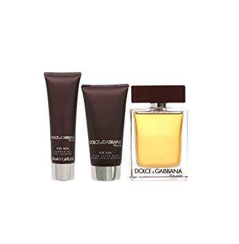 l une pour les hommes – ensemble Dolce et Gabbana cadeau 100 ml EDT SPRAY + baume  après-rasage 75 ml + gel douche 50 ml 75c70d95c69d